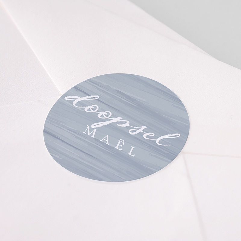 Stickers Doopsel Blauwe penseelstreek pas cher