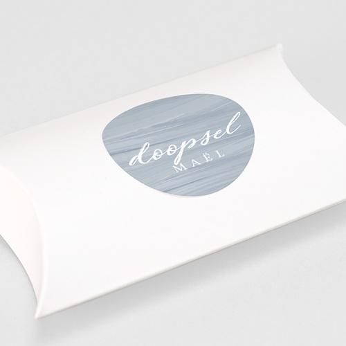 Stickers Doopsel Blauwe penseelstreek gratuit