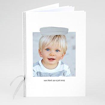 Boekomslag voor doopboekjes - Blauwe penseelstreek - 0