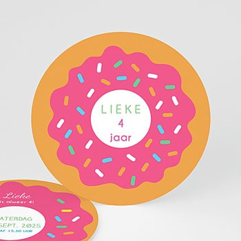Verjaardagskaarten meisjes Donut party