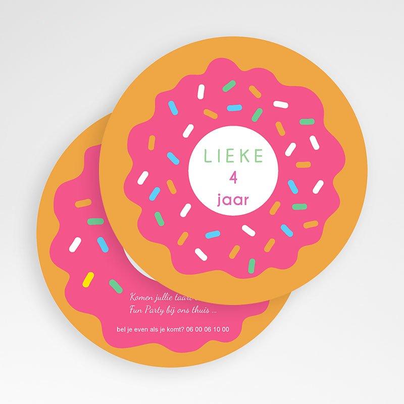 Verjaardagskaarten meisjes Donut party gratuit