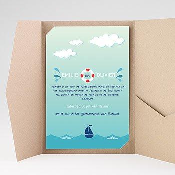 Rechthoekige trouwkaarten Zeelucht