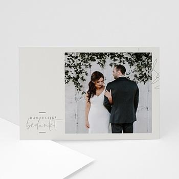 Chique bedankkaartjes huwelijk - Eucalyptus - 0