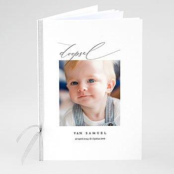 Boekomslag voor doopboekjes - Puur blauw - 0