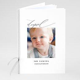 Boekomslag voor doopboekjes Puur blauw