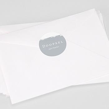 Stickers Doopsel Penseelstreken