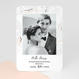 Bedankkaarten huwelijk met foto Marmer Forever