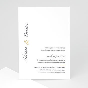 Klassieke trouwkaarten - Minimal Script - 0
