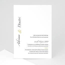 Klassieke trouwkaarten Minimal Script