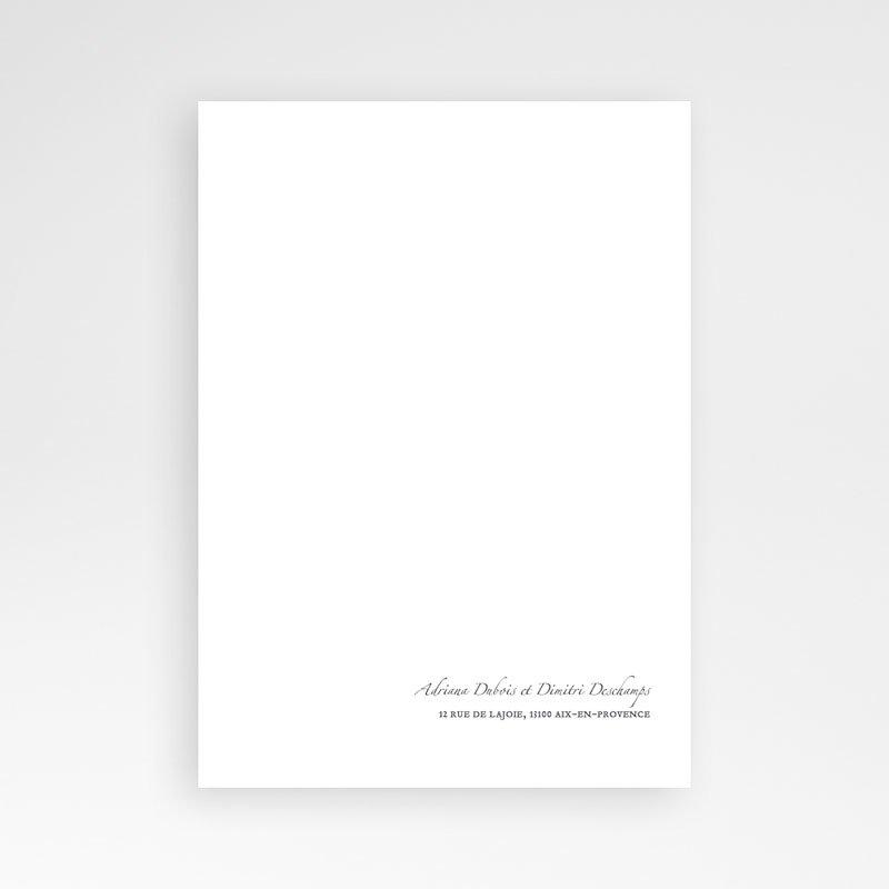 Klassieke Trouwkaarten Minimal Script pas cher