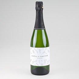 Etiket voor Champagnefles Kinfolk Bloem