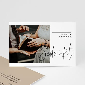 Bedankkaart huwelijk kraft - Handwritten - 0