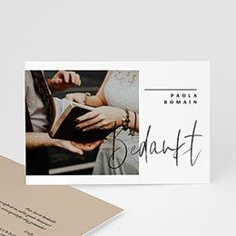 Bedankkaart huwelijk kraft Handwritten