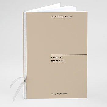 Boekomslag voor kerkboekje - Handwritten - 0