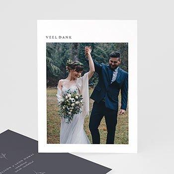 Bedankkaarten huwelijk met foto Kinfolk inspiratie