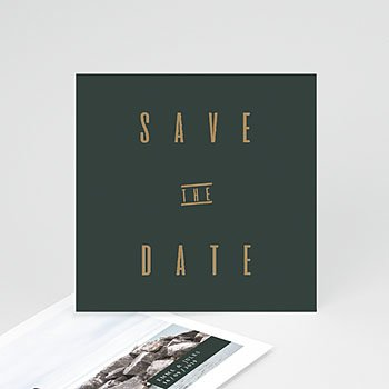 Save the date kaartjes Groen & Kraft