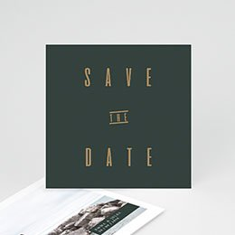 Save the date kaartjes Groen & Kraft