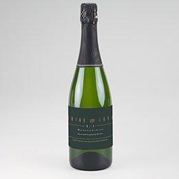 Etiket voor Champagnefles Groen & Kraft