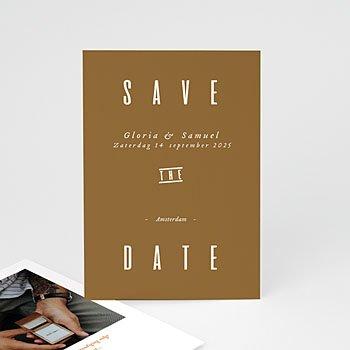 Save the date kaartjes Linnen & mosterd