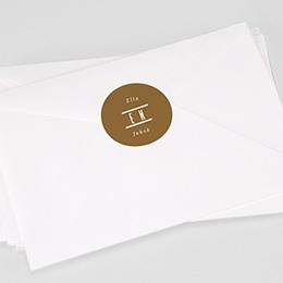 Stickers Huwelijk Linnen & mosterd