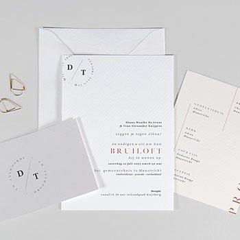 Trouwkaarten Minimalistisch - Cachet modern - 0