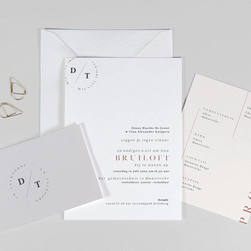Trouwkaarten Minimalistisch - Cachet modern 77260 thumb