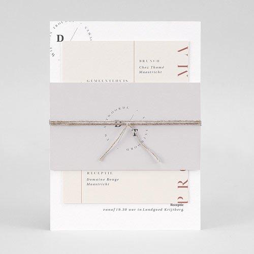 Trouwkaarten Minimalistisch - Cachet modern 77261 thumb
