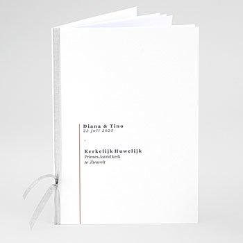 Boekomslag voor kerkboekje Cachet modern