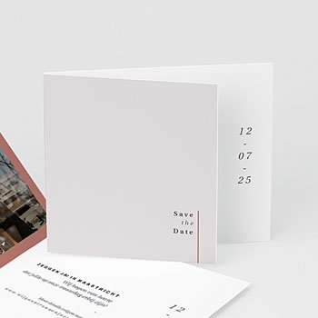 Save the date kaartjes Cachet modern