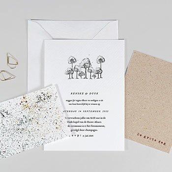 Trouwkaarten Kraftpapier Authentiek
