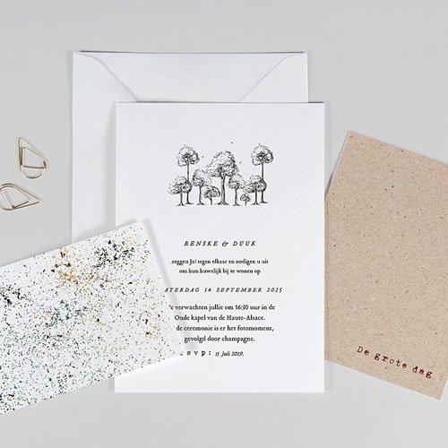 Trouwkaarten Kraftpapier - Authentiek 77305 thumb