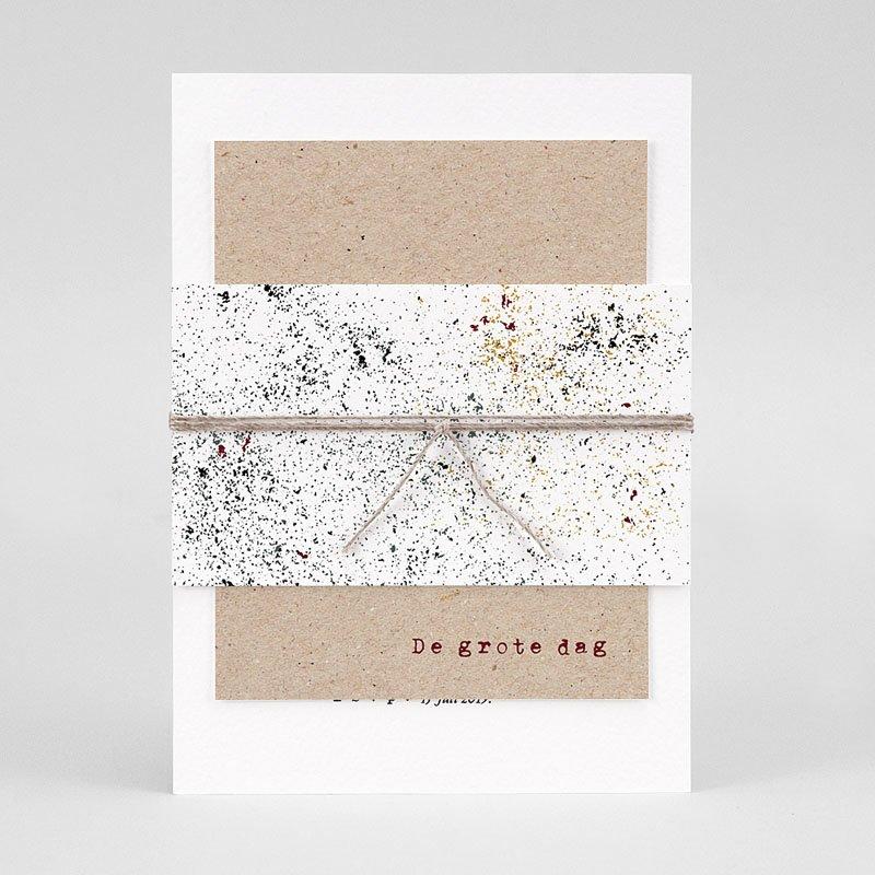 Trouwkaarten Kraftpapier - Authentiek 77306 thumb