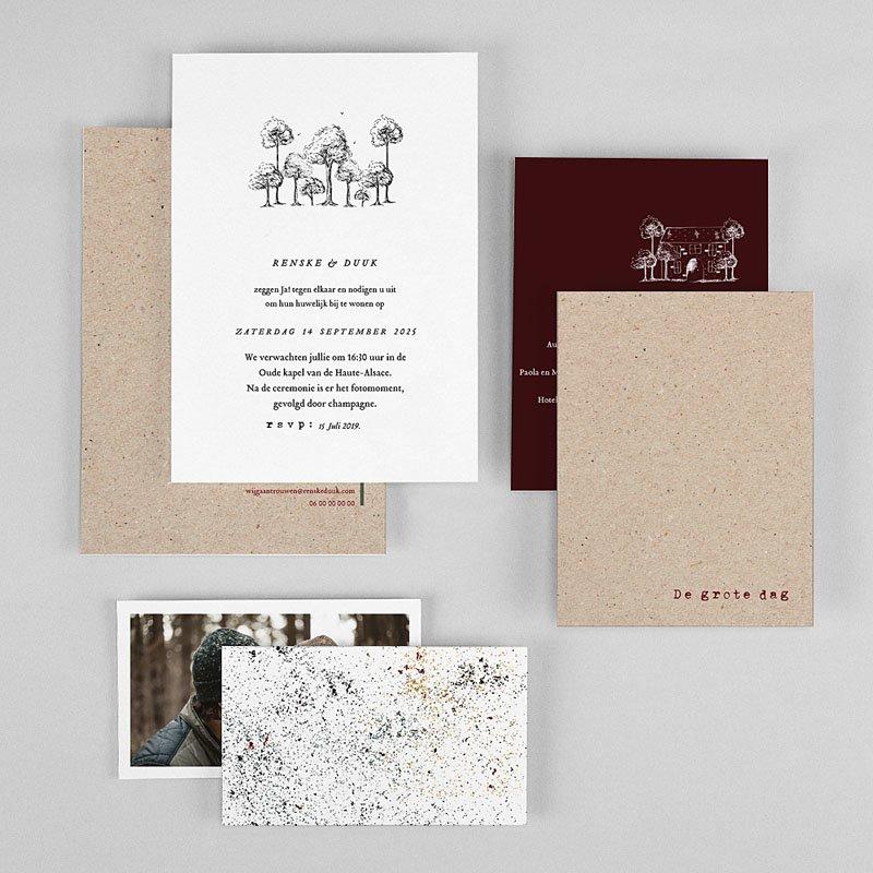 Trouwkaarten Kraftpapier - Authentiek 77307 thumb