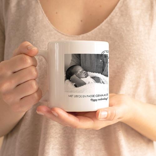 Gepersonaliseerde Fotomokken Vaderdag Nr 1 Papa gratuit