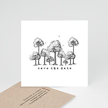 Save the date kaartjes Authentiek
