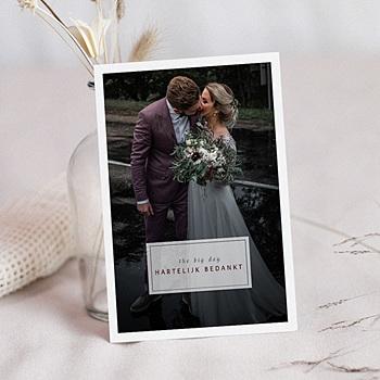 Bedankkaarten huwelijk met foto Kinfolk Style