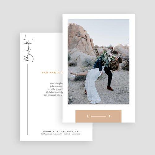 Bedankkaartjes Bruiloft Zuiden gratuit