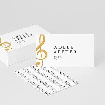 Tafelkaartjes huwelijk Muziek
