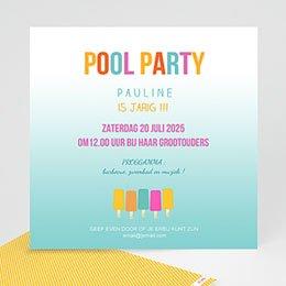 Verjaardagskaarten volwassenen Pool Party