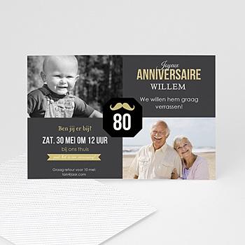 Verjaardagskaarten volwassenen 80è Anniversaire