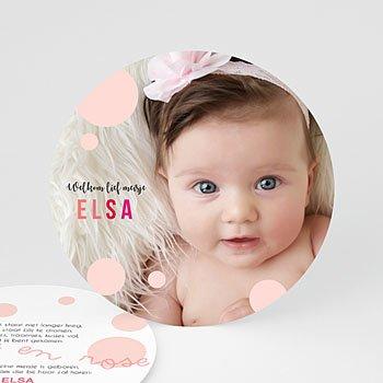 Geboortekaartje meisje Enigme rose