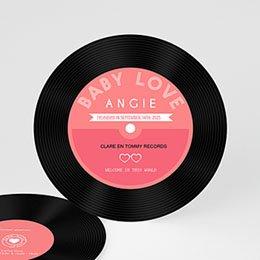 Ronde geboortekaartjes CD Baby Love