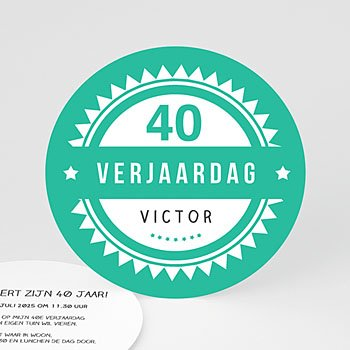 Verjaardagskaarten volwassenen Vintage Green