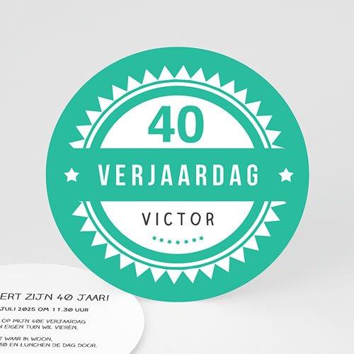 Meerderjarig Uitnodigingen Verjaardag Vintage Green