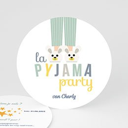 Verjaardagskaarten jongens Pyjama Party