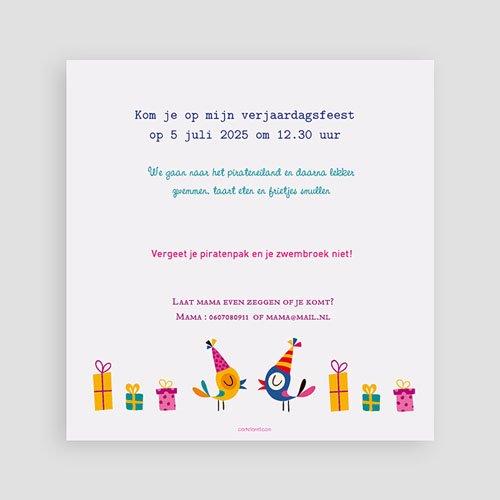 Uitnodigingen Verjaardag Meisje 6 ans Vive la fête pas cher