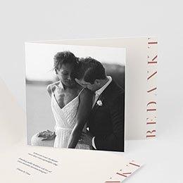 Bedankkaarten huwelijk met foto Cachet modern