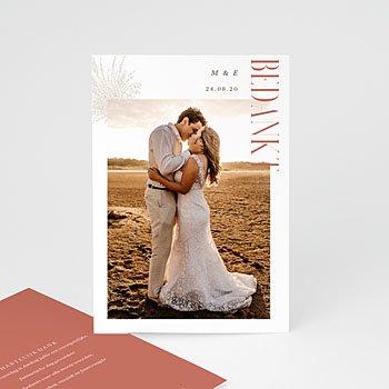 Bedankkaart huwelijk landelijk Perfecte unie