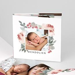 Geboortekaartje meisje Bloemen aquarel