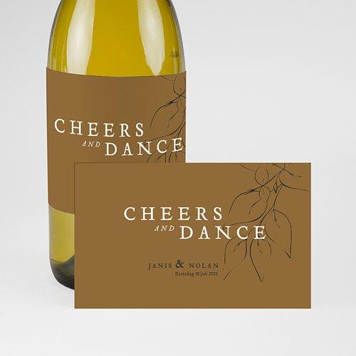 Champagne Flesetiketten Bruiloft Mooie planten pas cher
